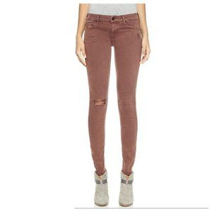Mother | The Looker Skinny Jeans in Cabernet